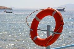 Círculo vermelho do salvamento Foto de Stock
