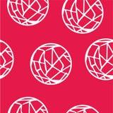 Círculo-Web abstratas sem emenda do branco do teste padrão Ilustração Stock