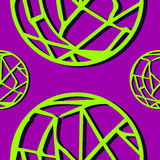 Círculo-Web abstratas sem emenda do cal do teste padrão Fotografia de Stock