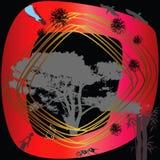 Círculo y árbol rojos Imagenes de archivo