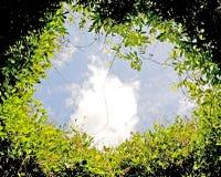 Círculo y cielo Fotos de archivo libres de regalías