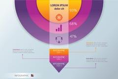 Círculo y flecha Infographic Concepto - esquema Diseño gráfico de las estadísticas Fotografía de archivo libre de regalías