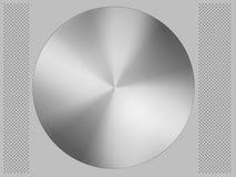 Círculo y fondo de aluminio Fotos de archivo