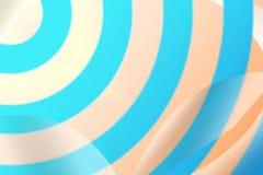 Círculos abstractos azules con el fondo de la sombra del descenso Imagenes de archivo