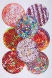 Círculos abstractos coloridos Imagen de archivo libre de regalías
