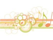 Círculos abstractos con las notas de la música Fotografía de archivo