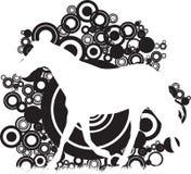 Círculos abstractos con un caballo Foto de archivo libre de regalías