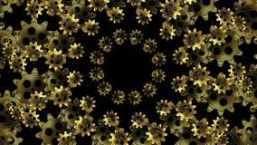 Círculos abstractos de ruedas dentadas giratorias ilustración del vector