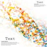 Círculos abstractos del ejemplo del vector del fondo Fotografía de archivo libre de regalías