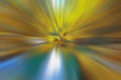 Círculos abstractos del fondo del bokeh, azules y amarillos, color brillante Foto de archivo