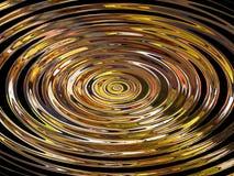 Círculos amarelos abstratos fotografia de stock
