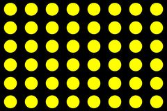 Círculos amarelos em um fundo preto abstraia o fundo Testes padrões sem emenda ilustração do vetor
