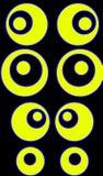 Círculos amarillos stock de ilustración