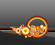 Círculos anaranjados. Vector Imagen de archivo