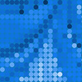 Círculos azuis ilustração royalty free