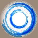 Círculos azuis abstratos quadriculação Fotos de Stock