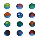 Círculos azuis ajustados Imagens de Stock