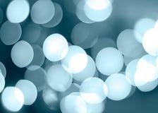 Círculos azuis da iluminação fotografia de stock