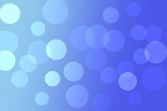 Círculos azuis do bokeh da cor da mistura abstrata do fundo Fotografia de Stock
