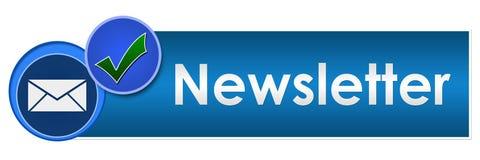 Círculos azuis do boletim de notícias dois Fotografia de Stock Royalty Free