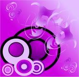 Círculos azuis do fundo Imagem de Stock