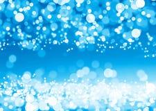 Círculos azuis do glitter ilustração stock