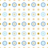 Círculos azuis e bege Imagens de Stock Royalty Free