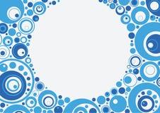 Círculos azules Ilustración del Vector