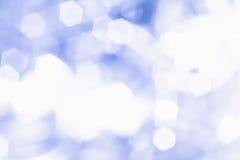 Círculos azules del bokeh Fotografía de archivo