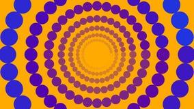 Círculos azules y púrpuras ilustración del vector