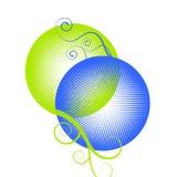 Círculos azulverdes de los puntos Imagen de archivo libre de regalías