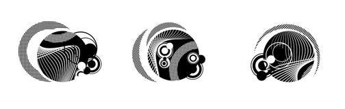 Círculos blancos y negros Foto de archivo libre de regalías