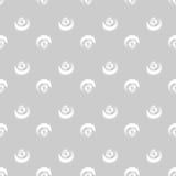 Círculos brancos do Grunge no fundo cinzento Fotos de Stock