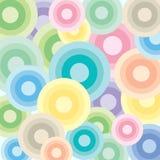 Círculos brilhantes das cores pastel Foto de Stock