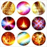 Círculos brillantes Decoración para el diseño de la Navidad Imagen de archivo libre de regalías