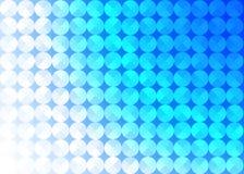 Círculos brillantes inconsútiles del extracto en fondo azul ilustración del vector