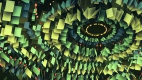 Círculos cada vez mayor abstractos de partículas libre illustration
