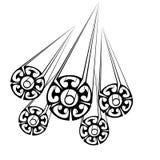 Círculos calculados Foto de archivo libre de regalías