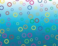 Círculos coloreados stock de ilustración