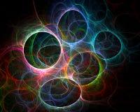 Círculos coloreados - arte del fractal Foto de archivo