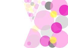 Círculos coloreados en un fondo blanco Imagen de archivo