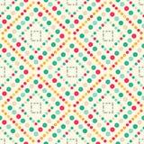 Círculos coloreados grandes y pequeño modelo inconsútil geométrico libre illustration