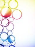 Círculos coloridos abstractos Foto de archivo libre de regalías