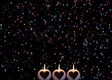Círculos coloridos abstratos de Bokeh para o fundo do Natal imagem de stock royalty free