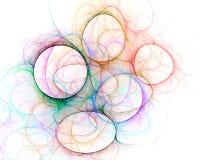 Círculos coloridos - arte del fractal Foto de archivo libre de regalías