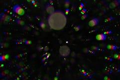 Círculos coloridos das luzes de piscamento Imagens de Stock