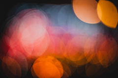 Círculos coloridos del bokeh abstracto ligero Imagenes de archivo