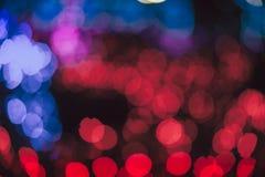 Círculos coloridos del bokeh abstracto ligero Fotos de archivo libres de regalías