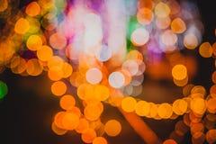 Círculos coloridos del bokeh abstracto ligero Fotografía de archivo