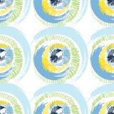 Círculos coloridos do Grunge no fundo branco Imagem de Stock Royalty Free